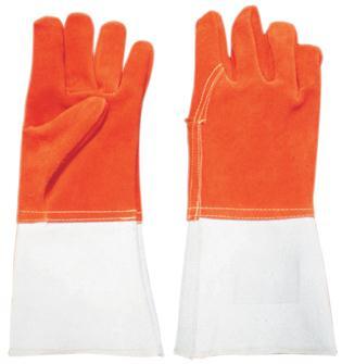 Gants de protection avec manchette anti-chaleur 300°C en cuir