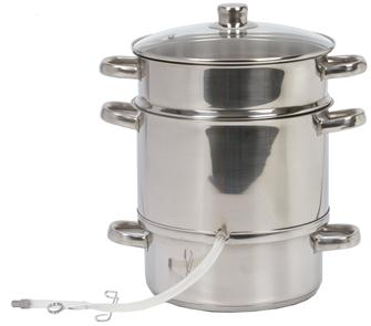 Extracteur de jus à vapeur inox 26 cm induction