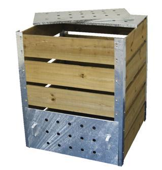 Silo composteur 470 litres en bois autoclave et acier galvanisé fabriqué en France