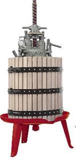 Pressoir hydraulique vis centrale 212 litres