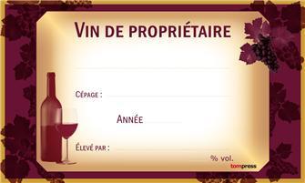 Etiquettes pour bouteilles de vin par 24