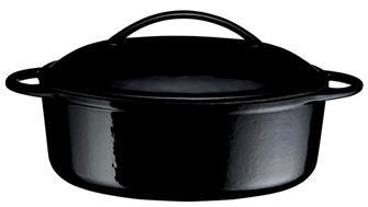 Cocotte en fonte ovale noire 31 cm 2,3 litres