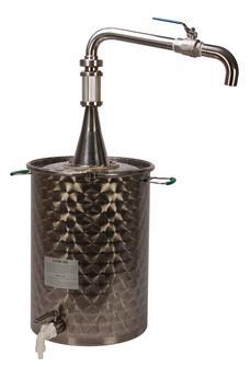 Bidon à huile décanteur avec robinet haut de soutirage de 50 litres