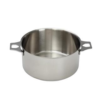 Casserole inox 18 cm sans queue