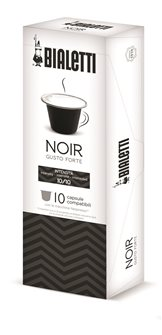 Capsules de café Bialetti noir intense pour Nespresso x10