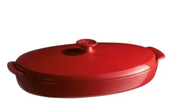 Plat papillote rouge Grand Cru Emile Henry en céramique