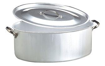 Cocotte ovale alu 50x36 avec couvercle