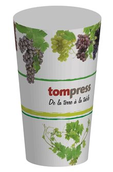 Gobelets réutilisables Tom Press motif vigne et raisin