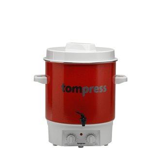 Stérilisateur émaillé électrique avec minuterie et robinet Tom Press