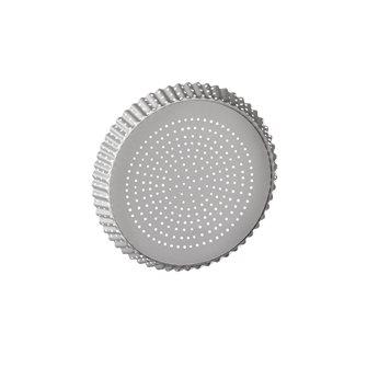 Moule à tarte perforé fond amovible antiadhésif 24 cm