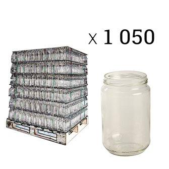 Pot à miel 1 kg twist-off en verre par palette de 1050