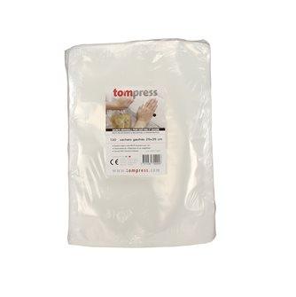 Sacs sous vide alimentaires gaufrés Tom Press 25x35 cm par 100