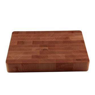 Billot de boucher pro Tom Press en bois épais 35x50 cm