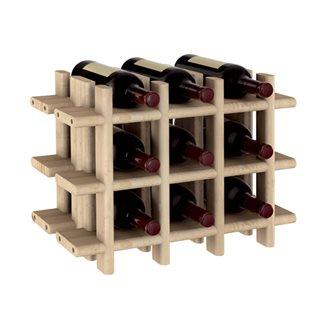 Casier en bois pour 9 bouteilles de vin