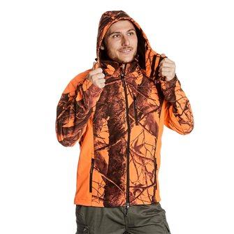 Blouson camouflage orange homme Bartavel Buffalo camo 3XL softshell