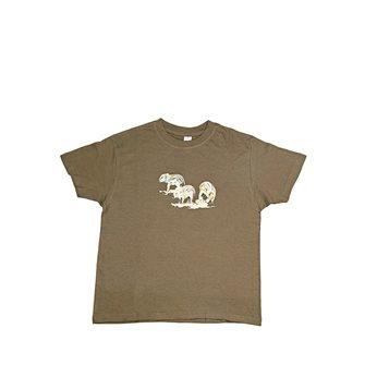 Tee shirt Bartavel Nature kaki sérigraphie trio de marcassins 3-4 ans