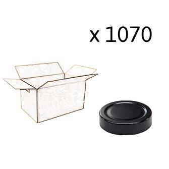 Capsule pour Bocal Jupe Haute diam 58 mm couleur noir par 1070
