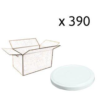 Capsules twist off blanches de 100 mm de diamètre par carton de 390