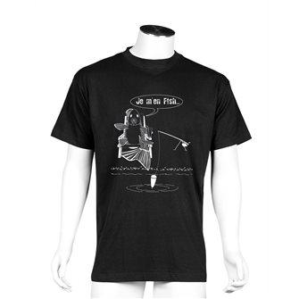 Tee shirt noir M humour pêche Je m´en fish de Bartavel Nature