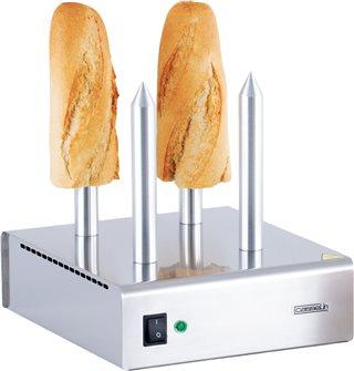 Chauffe pain professionnel 4 plots pour sandwich hot dog