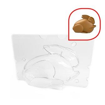 Moule lapin en chocolat de pâques 12x5,5x8,5 cm